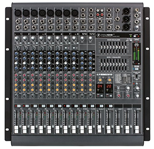 Mackie PPM1012 12-Channel, 1600-Watt Powered Desktop Mixer