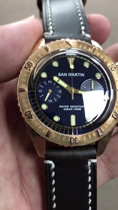 San Martin Bronze 65 Diver Chronograph - WR Watches PLT