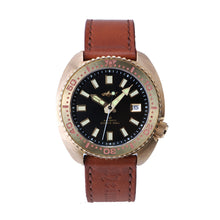 Load image into Gallery viewer, Heimdallr Bronze Turtle Black Dial Shark Logo