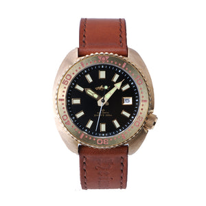 Heimdallr Bronze Turtle Black Dial Shark Logo - WR Watches PLT