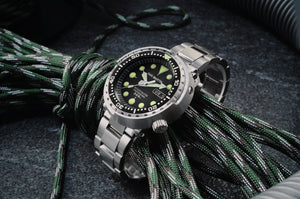 San Martin Steel Tuna With Ceramic Bezel Insert