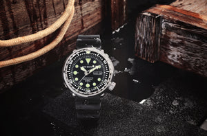 San Martin Steel Tuna With Ceramic Bezel Insert - WR Watches PLT