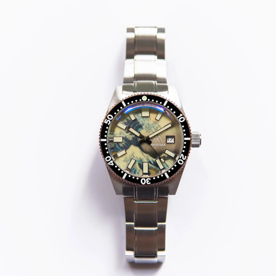 Proxima 65 Great Wave Off Kanagawa Dial - WR Watches PLT