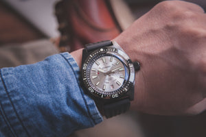 Proxima Black 65 Day-date Silver Dial
