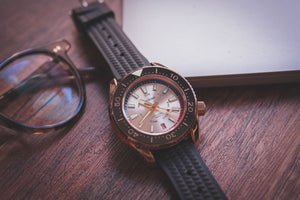 Proxima Bronze MM300 Day-date Silver Dial