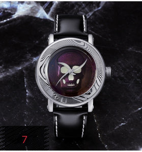 San Martin Damascus Skull Watch