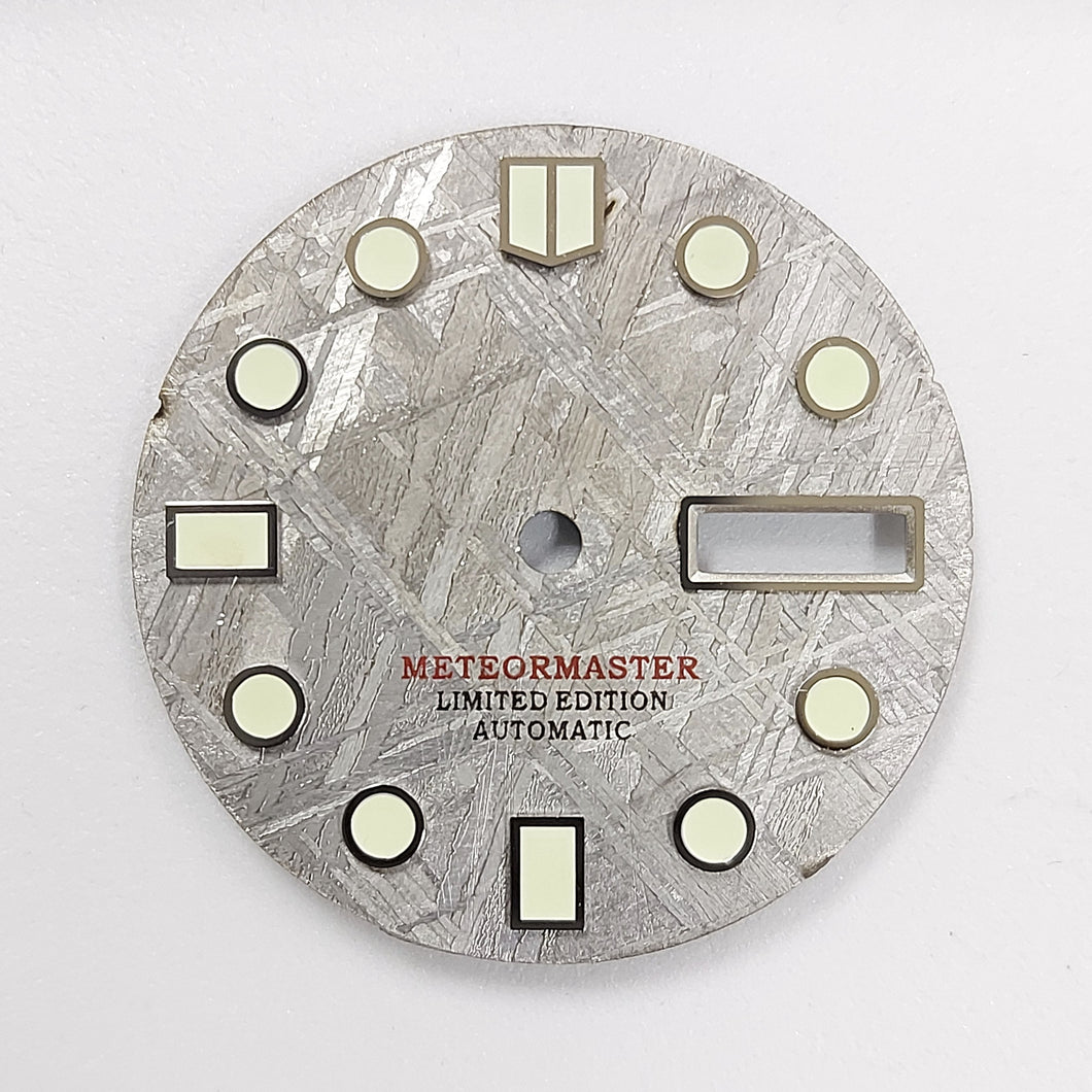 Grey Meteorite Day-date Dial for Watch Mod