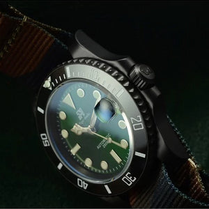 San Martin Steel Sub DLC - WR Watches PLT