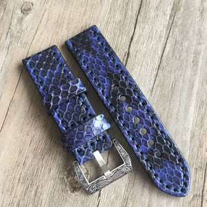 Python Skin Strap With Calf Leather Inner