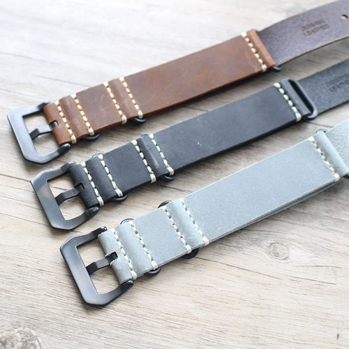 Crazy Horse Leather Nato Strap