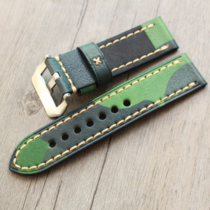 Camo Leather Strap - WR Watches PLT