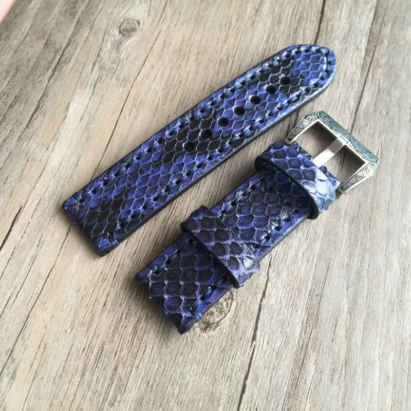 Python Skin Strap With Calf Leather Inner - WR Watches PLT