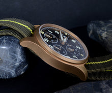 Load image into Gallery viewer, Hruodland Bronze Pilot Chronograph