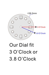 YS MM Dial for Watch Seiko Mod