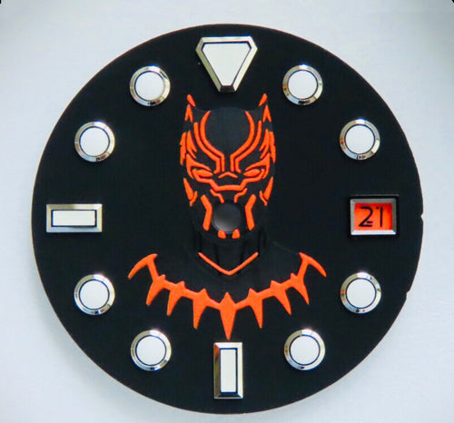 Black Panther Dial Sets for Seiko Mod (Commemorate limited edition)