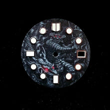 Load image into Gallery viewer, Samurai & Dragon Dial for Watch Mod