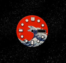Load image into Gallery viewer, Red Kanagawa x Godzilla Day-date Dial for Watch Mod