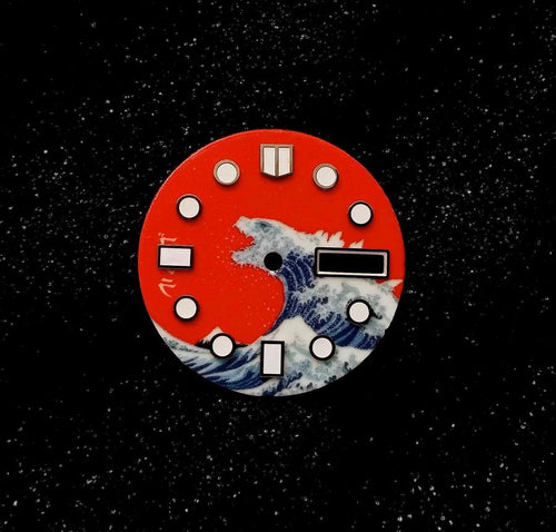 Red Kanagawa x Godzilla Day-date Dial for Watch Mod
