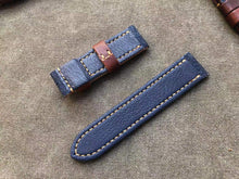 Load image into Gallery viewer, Jeans Fabric Top Leather Strap