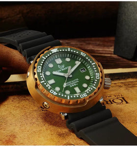 San Martin Bronze Tuna With Ceramic Bezel Insert - WR Watches PLT