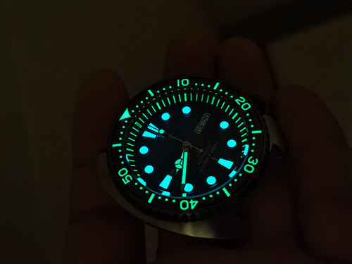 Luminous Chapter Ring for Seiko Turtle SRP773 / SRP775 / SRP777 / SRPA21 and Samurai