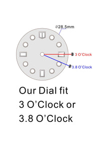MOP Day-date Dial for Watch Mod