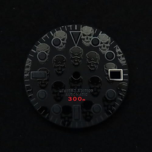 Skull Matte Black Dial for Watch Mod