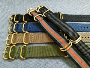 Bronze Hardware Nato Strap - WR Watches PLT