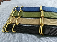 Load image into Gallery viewer, Bronze Hardware Nato Strap