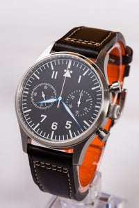 Escapement Time Steel Pilot Chronograph - WR Watches PLT