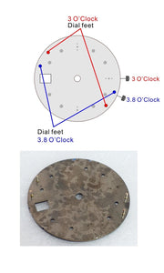 Crack Art Day-date Dial for Watch Seiko Mod