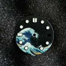 Load image into Gallery viewer, Midnight Black Kanagawa Dial for Watch Mod
