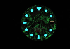 Full Lume Carbon Fiber Dial for Watch Mod