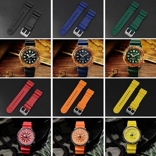 San Martin Fluoro Rubber Strap - WR Watches PLT