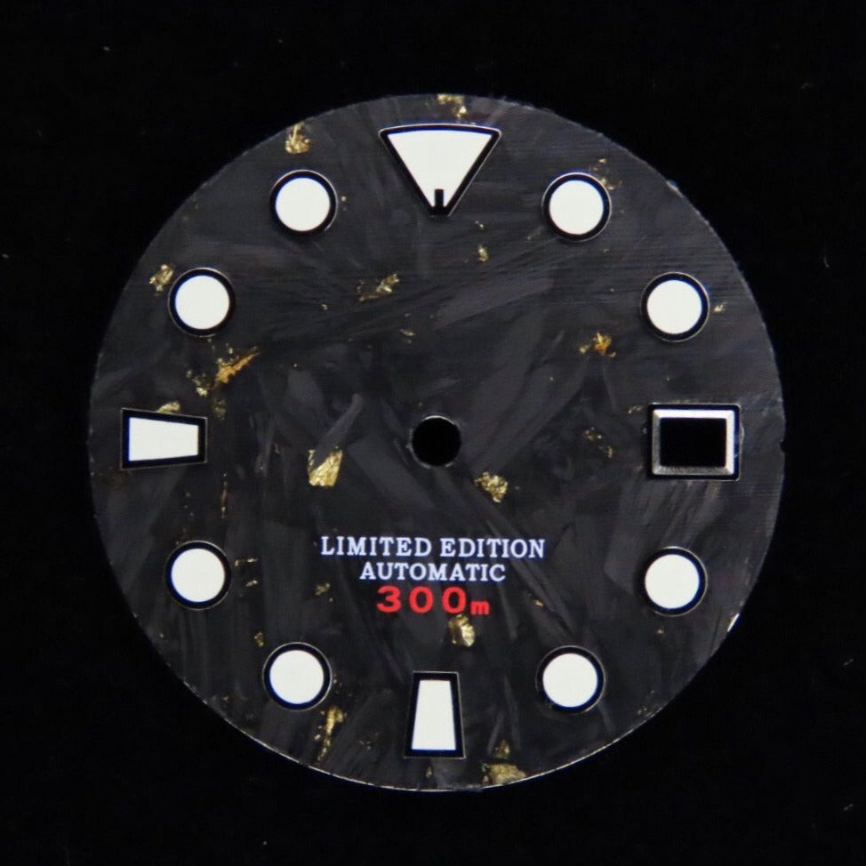 Gold Foil Carbon Fiber Dial for Seiko Mod