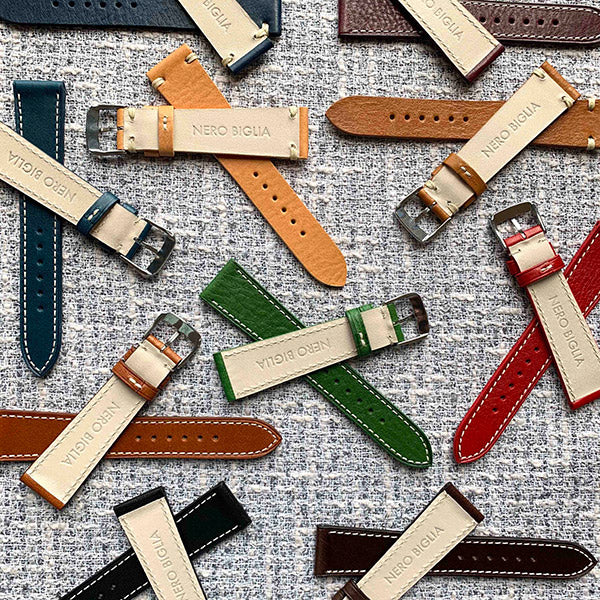 NeroBiglia straps, made in Italy