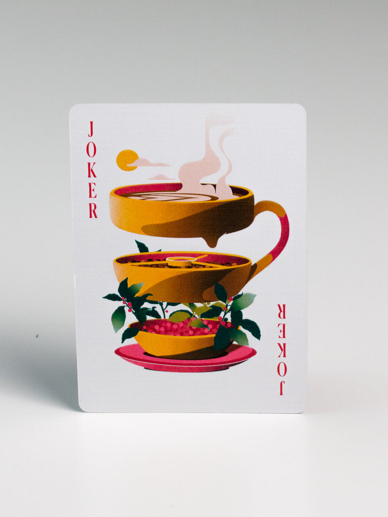 Coffee Playing Cards - Green deck