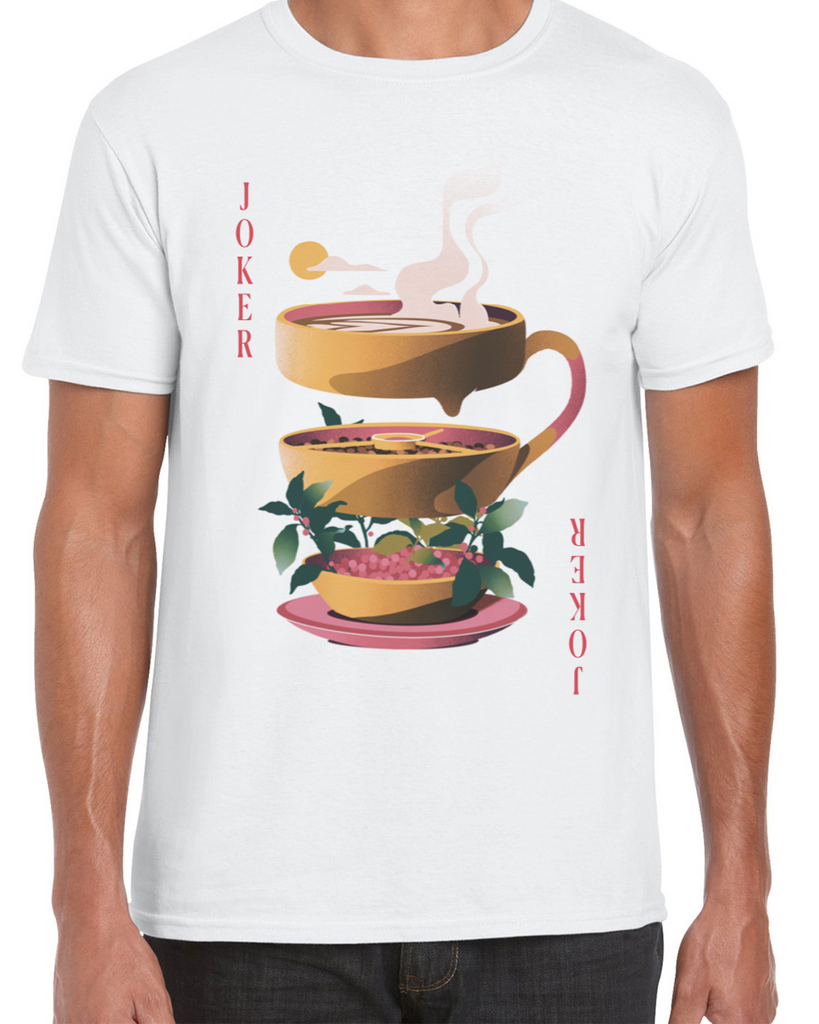 Red Coffee Cup/Joker T-shirt