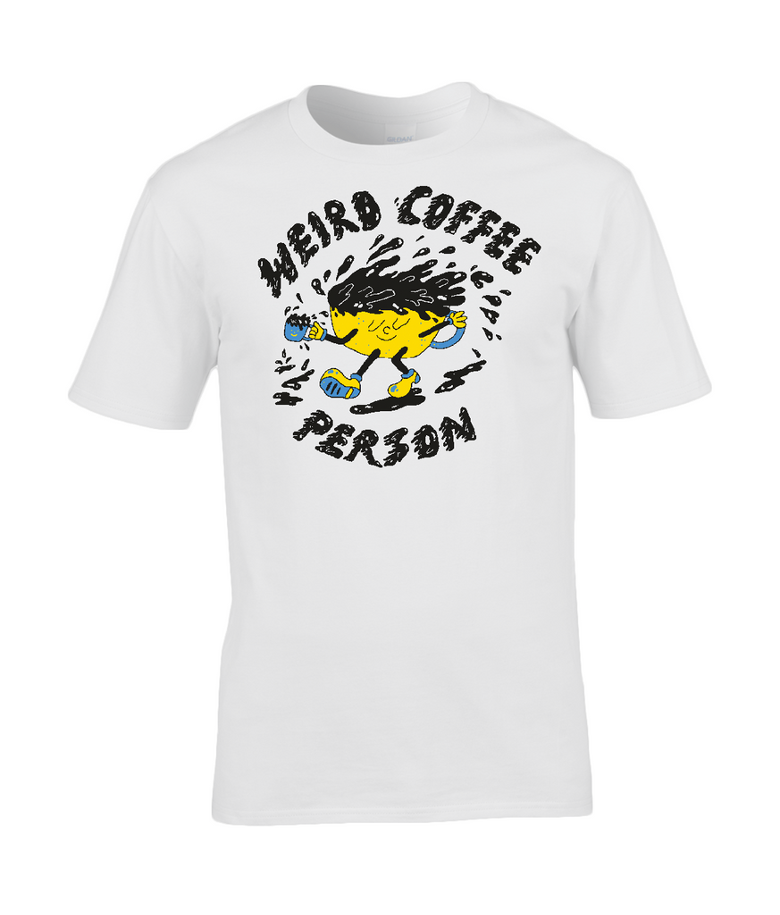 Weird Coffee Person - Walking Cup t-shirt