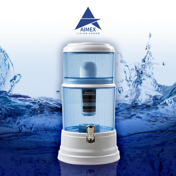 Aimex 8 Stage Water Filter Purifier Dispenser 20L Maifan Stone - Ozstar.com.au