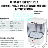Automatic Soap Dispenser Handsfree IR Sensor Hand Wash