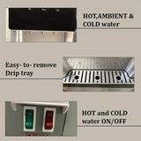 Water Cooler Dispenser Chiller Bench Top Hot Cold Ambient Drinking Bottle Stand BLACK SILVER - Ozstar.com.au