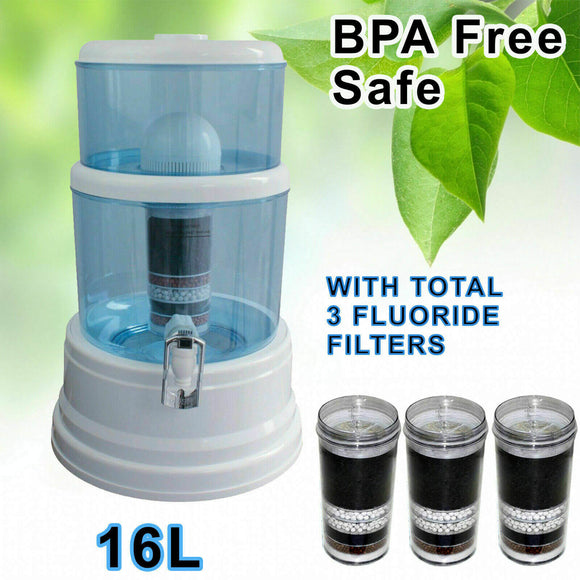 Aimex Water 8 Stage Water 16L Dispenser Bonus 3 Fluoride Filter - Ozstar.com.au