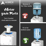 Bench Top Silver Black Water Cooler Aimex Water Dispenser - Ozstar.com.au