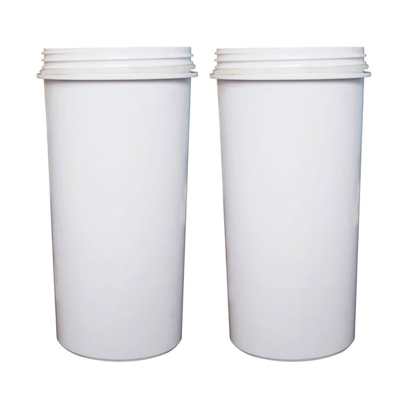 8 Stage Awesome Taste AIMEX Water Filter KDF Charcoal Ceramic BPA Free White 2 Pack