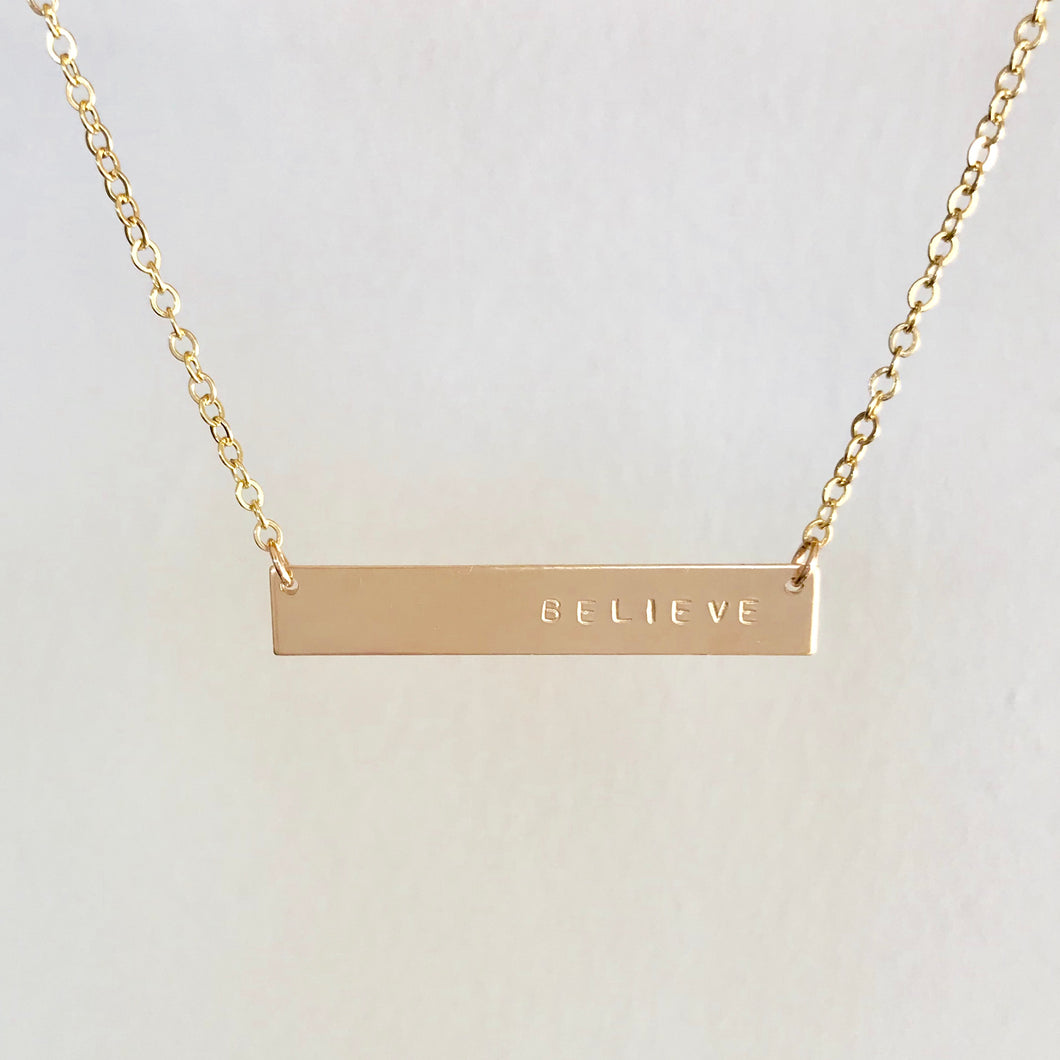 Personalized Bar Necklace-Basic Font