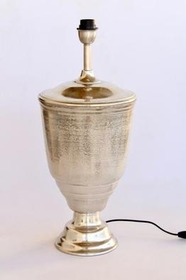Antique silver lamp base only 64X27CM