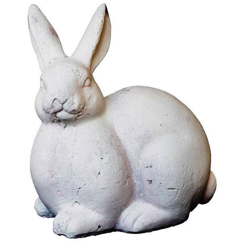 Cement Bunny White Bertha