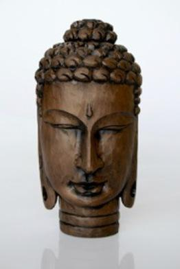 Budha Brown head 34x16cm unique wood lifestyle