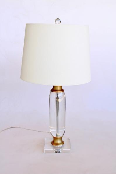 CRYSTAL & BRASS LAMP BASE - Unique Wood